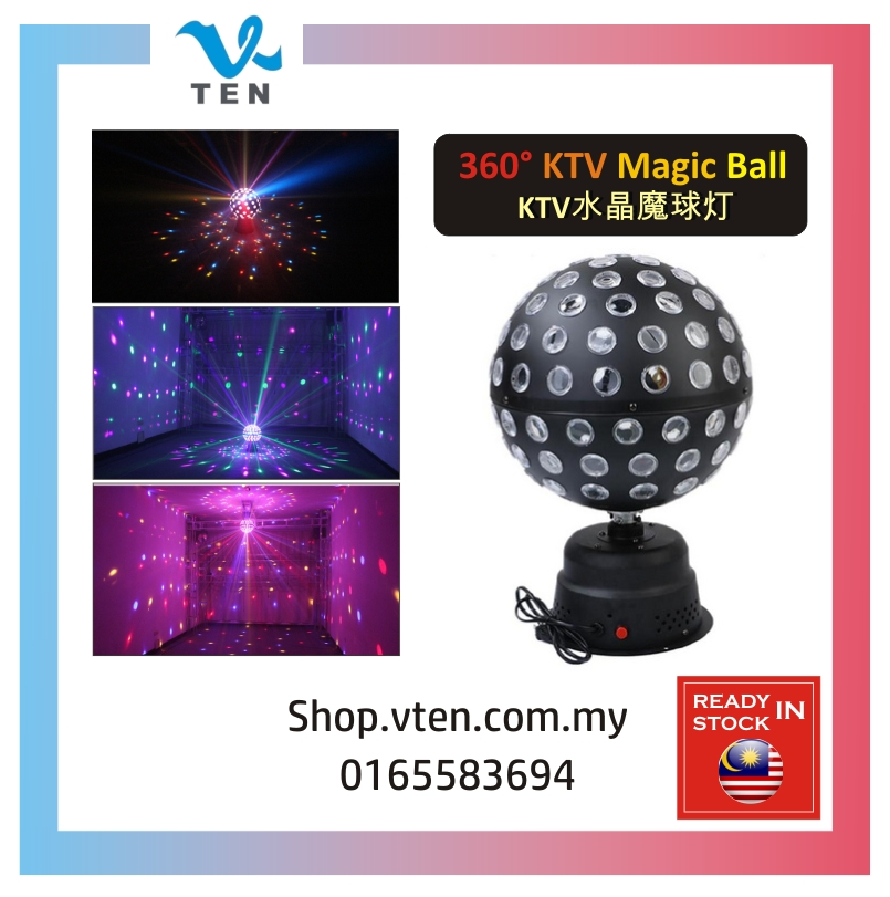 Big Magic Ball Disco Colorful LED Rotating Light Voice-Activated